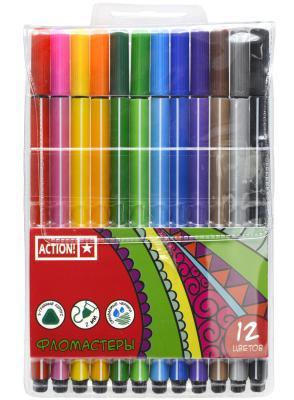 Набор фломастеров Action! AWP151-12 2 мм 12 шт разноцветный AWP151-12
