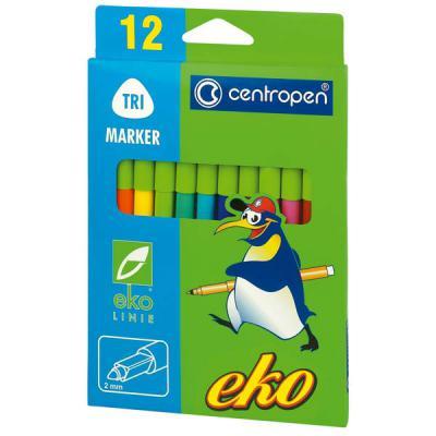 Набор фломастеров Centropen EKO 12 шт разноцветный 2560/12 цена