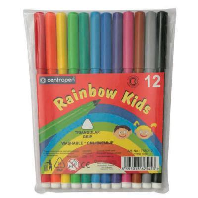 Набор фломастеров Centropen RAINBOW KIDS 12 шт разноцветный 7550/12