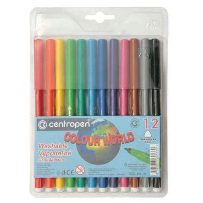 Фото - Набор фломастеров Centropen COLOUR WORLD 12 шт разноцветный 7550/12 TP 7550/12 TP centropen набор смываемых фломастеров colour world 18 цветов