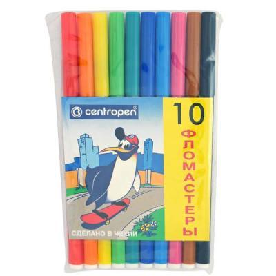 Набор фломастеров Centropen ПИНГВИНЫ 10 шт разноцветный 7790/10-86 7790/10-86 цена