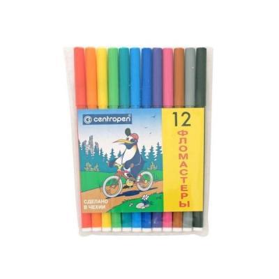 Набор фломастеров Centropen ПИНГВИНЫ 12 шт разноцветный 7790/12-86 7790/12-86 цена