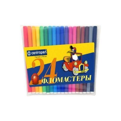 Набор фломастеров Centropen ПИНГВИНЫ 24 шт разноцветный 7790/24-86 7790/24-86 цена