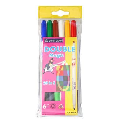 Набор фломастеров Action! DOUBLEMAGIC 6 шт разноцветный набор фломастеров universal carioca mini jumbo 6 шт разноцветный 40106 6