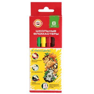 Набор фломастеров Koh-i-Noor ВЕСЕЛЫЕ ЖИВОТНЫЕ 2 мм 6 шт разноцветный 1002/6 KS