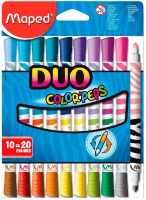 Набор фломастеров Maped COLOR PEPS DUO 4.75 мм 10 шт разноцветный 847010 847010 ahava набор duo deadsea mud набор дуэт
