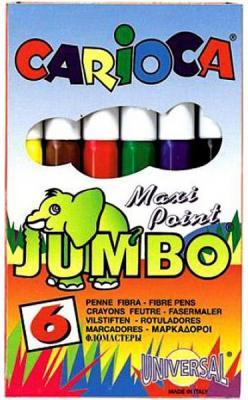 Набор фломастеров Universal CARIOCA MINI JUMBO 6 шт разноцветный 40106/6 набор фломастеров universal carioca mini jumbo 6 шт разноцветный 40106 6