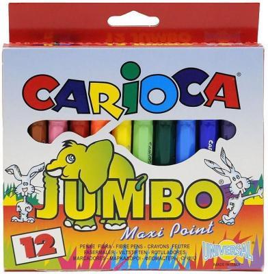 Набор фломастеров Universal CARIOCA JUMBO 12 шт разноцветный 40569/12 40569/12 набор фломастеров universal carioca mini jumbo 6 шт разноцветный 40106 6