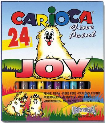 Набор фломастеров Universal CARIOCA JOY 2 мм 24 шт разноцветный 40615/24 40615/24 набор фломастеров universal carioca mini jumbo 6 шт разноцветный 40106 6