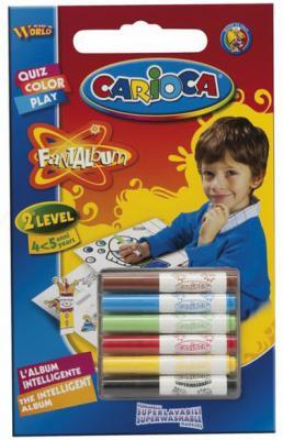 Набор фломастеров Universal CARIOCA FANTALBUM 6 шт разноцветный 41999 + 20 раскрасок 41999