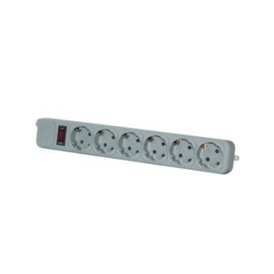 Сетевой фильтр Kreolz XM1010 серый 6 розеток 3 м