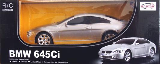 Машинка на радиоуправлении Rastar BMW 645Ci 1:24 — от 3 лет пластик в ассортименте 645-24/14700 стоимость