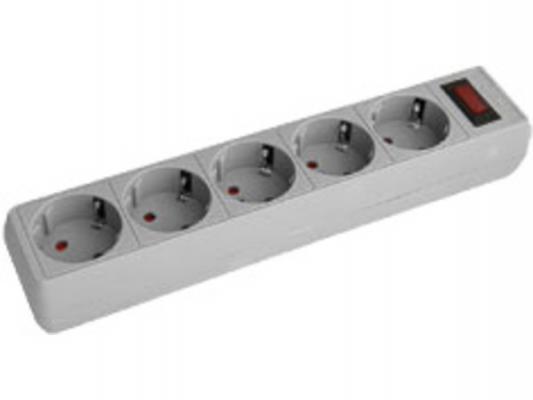 Сетевой фильтр Kreolz S1550 серый 5 розеток 5 м SUQB_S1550_sb