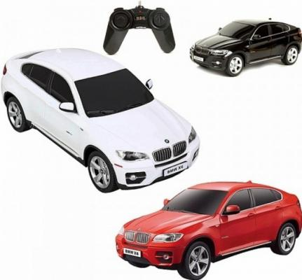 Машинка на радиоуправлении Rastar BMW Х6 1:24 ассортимент от 3 лет пластик в ассортименте 31700 машина детская rastar rastar машинка на радиоуправлении ferrari 599 gto 1 24 в ассортименте