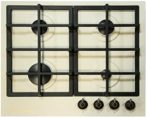 Варочная панель газовая Electronicsdeluxe TG4 750231F-023 бежевый варочная поверхность electronicsdeluxe tg4 750231f 040 black