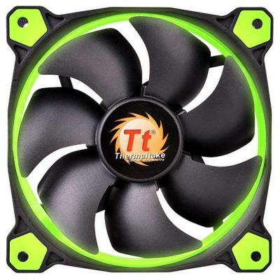 Вентилятор Thermaltake Fan Tt Riing 12 120x120x25 3pin 18.7-24.6dB зеленая подсветка CL-F038-PL12GR-A free delivery ac230v 8 cm high quality axial flow fan cooling fan 8038 3 c 230 hb