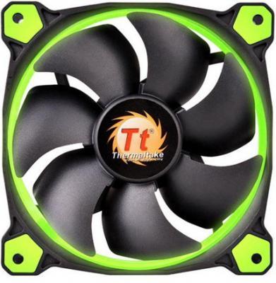 Вентилятор Thermaltake Riing 14 140x140x25 3pin 22.1-28.1dB зеленая подсветка CL-F039-PL14GR-A
