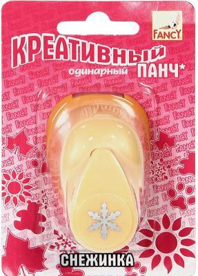 Фигурный дырокол Fancy Creative Снежинка 1 лист FDP160/3 одинарный