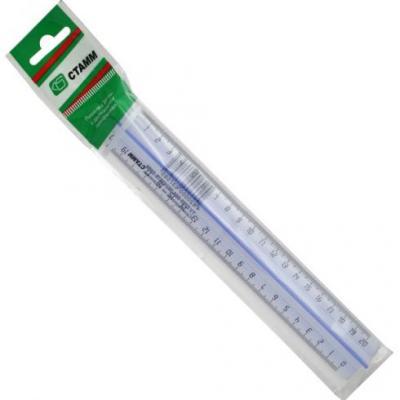 Фото - Линейка СТАММ ЛН16 20 см пластик линейка стамм лн02 16 см пластик 210484