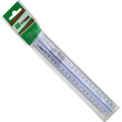 Фото - Линейка СТАММ ЛН18 20 см пластик линейка стамм лн02 16 см пластик 210484