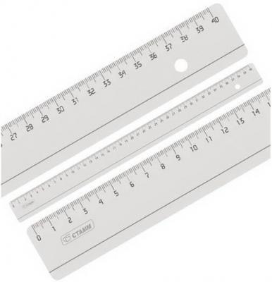 Линейка бесцветная, прозрачная, 40 см ЛН53