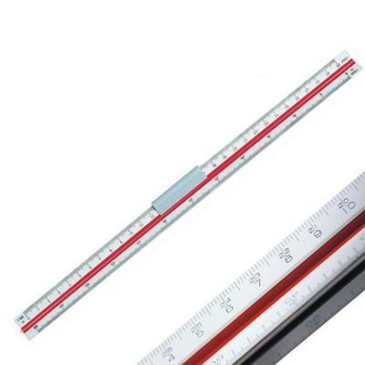 Линейка 30 см, масштабная трехгранная, 6 шкал (2:1/1:1/1:2/1:2,5/1:5/1:15), в блистере 715002