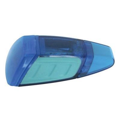 Точилка Action! ШАТТЛ пластик синий с ластиком, п/п с европодвесом ASH515