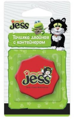 Точилка Action! Guess with Jess пластик красный GJ-ASH100 пенал на одно отделение action guess with jess gj apc4261 2 gj apc4261 2