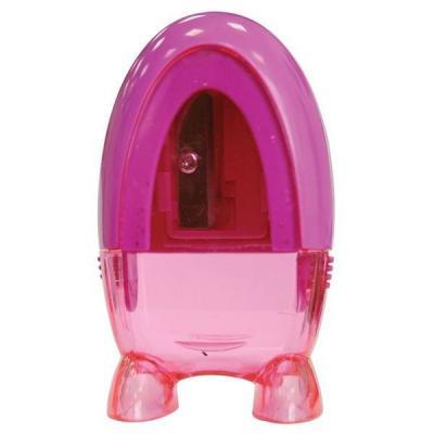 Точилка Action! БУЛЬКА пластик розовый прозр. корпус, на /ножках/, блистер с е/подвесом FSH340