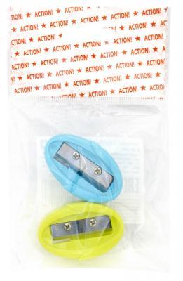 Набор точилок Action! ТЮЛЬПАН пластик ассорти ASH555