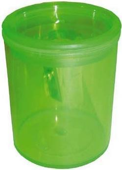 Точилка Eisen 412.01.998 пластик зеленый с контейнером, прозрачная