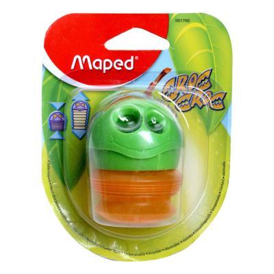 Точилка Maped пластик зеленый 43111 точилка maped signal цвет салатовый белый