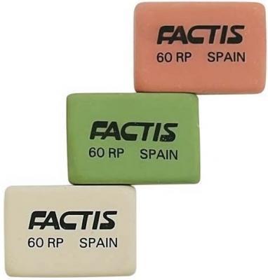 Ластик Factis E60RP 1 шт прямоугольный в ассортименте