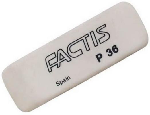Ластик Factis P36 1 шт прямоугольный