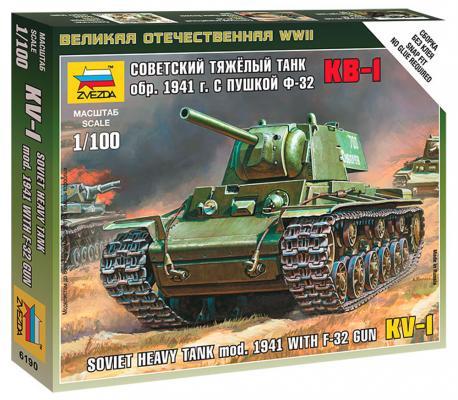 Танк Звезда Советский тяжёлый танк КВ-1 1:100 хаки 3539П танк zhorya танк хаки в85860