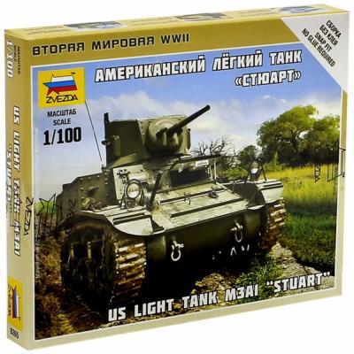 """Танк Звезда """"Американский легкий танк """"Стюарт"""" 1:100 зеленый 6265"""