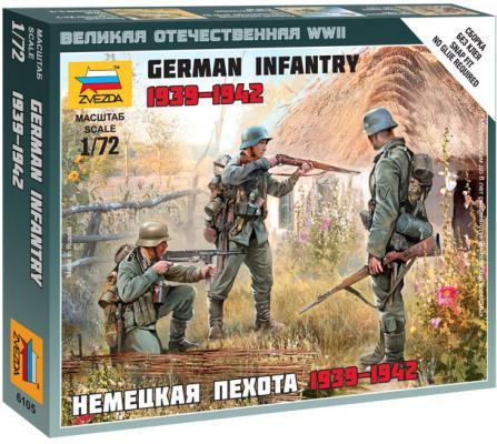 Немецкая пехота Звезда Немецкая пехота 1939-1942гг 6105 1:72 разноцветный