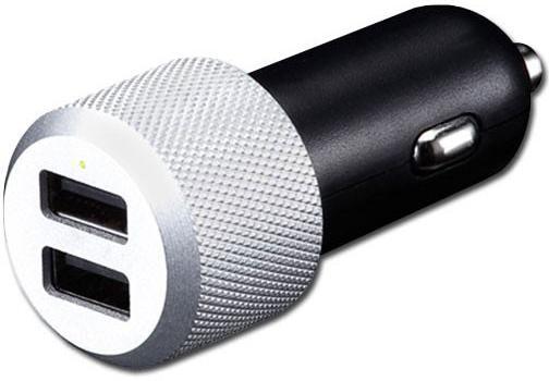 Автомобильное зарядное устройство Just Mobile Highway Max CC-128S 2 х USB 2.4А серебристый автомобильное зарядное устройство buro tj 201b 2 х usb 4 8 а черный
