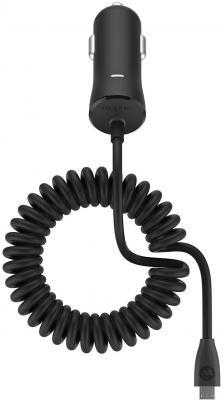 Автомобильное зарядное устройство Mophie Single 3362 microUSB 2.4А черный