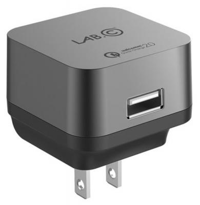 Сетевое зарядное устройство LAB.C X1 LABC-595-GR_EU USB 2.4А серый