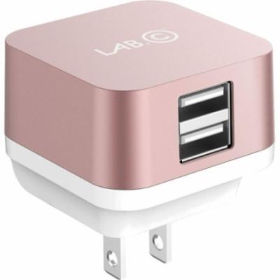 Сетевое зарядное устройство LAB.C LABC-593-RG_EU розовое золото 2 х USB 2.4А —