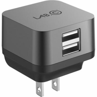 Сетевое зарядное устройство LAB.C X2 LABC-593-GR_E 2 х USB 2.4А серый