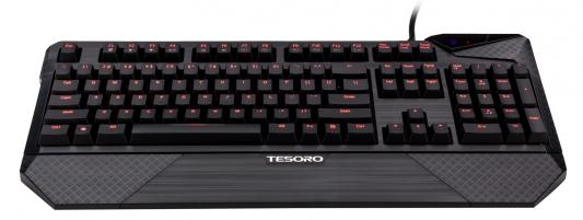 Клавиатура Tesoro Durandal Brown USB черный TS-G1N