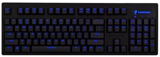 Клавиатура Tesoro EXCALIBUR USB черный TS-G7NL Red