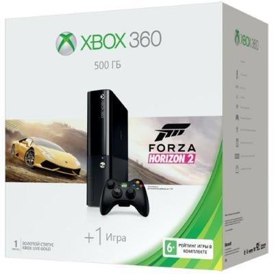 Игровая приставка Microsoft Xbox 360  500Gb + Forza Horizon 2 + проводной геймпад 3M4-00043-s