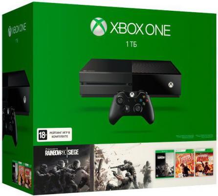 Игровая приставка Microsoft Xbox One 1Tb + Rainbow Six Siege +  Rainbow Six Vegas +  Rainbow Six Vegas 2 + 3 месяца Xbox LIVE Gold KF7-00121-L