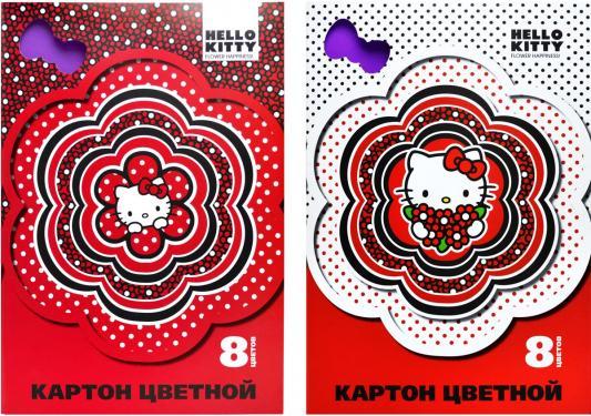 Набор цветного картона Action! HELLO KITTY A4 8 листов HKO-ACC-8/8-3 в ассортименте