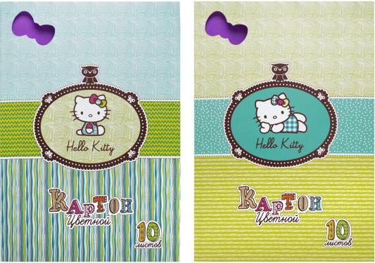 Набор цветного картона Action! HELLO KITTY A4 10 листов HKO-ACC-10/10-2 в ассортименте