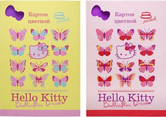 Набор цветного картона Action! HELLO KITTY A4 8 листов HKO-ACC-8/8 в ассортименте
