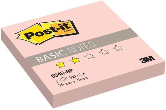 Бумага с липким слоем 3M 100 листов 76x76 мм розовый 654R-BP-RU